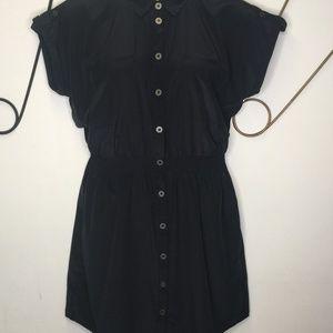 Maison Jules short sleeve tab sleeve blue dress